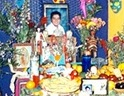 altar or ofrenda to young boy