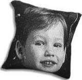 grief pillow with photo of boy