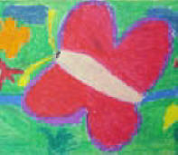 colorful butterfly childs grief drawing
