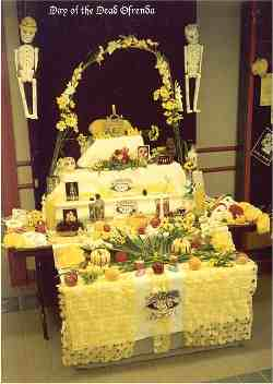 ofrenda or spanish altar to honor deceased loved ones