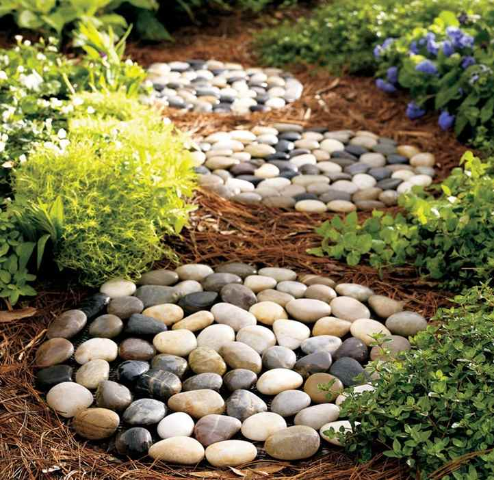 Memorial garden for Smooth river rocks for landscaping