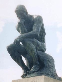 Rodins sculpture The Thinker