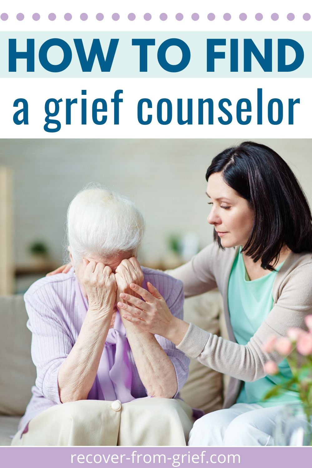 Wonder how to find a grief counselor? Here are 4 ways to find a good one. #griefcounselor #grief #loss #sadness