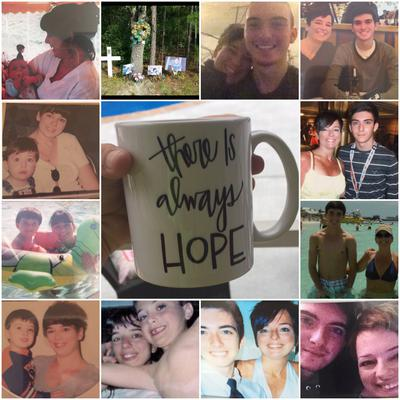 A collage of pictures of Brian and his family